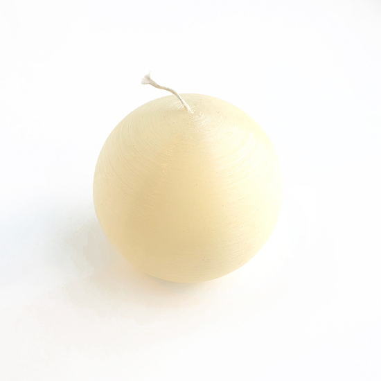 SILK WHITE SPHERE CANDLE