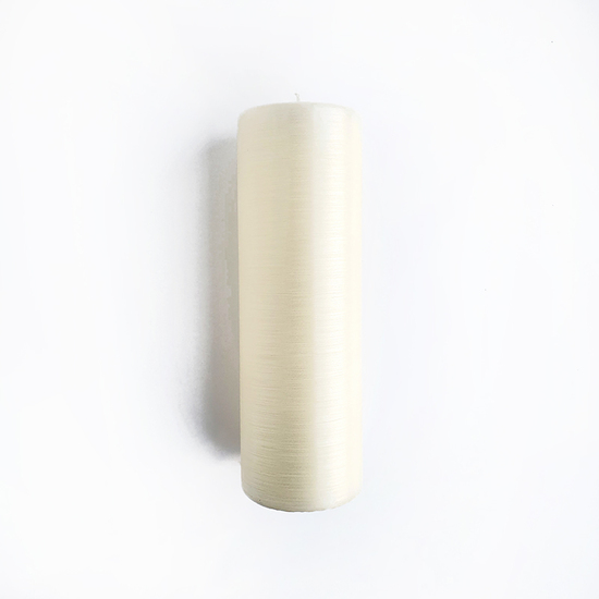 VERY LARGE PILLAR LINEN CANDLE