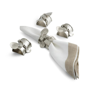 BOTANICAL LEAF NAPKIN RINGS - SET OF FOUR
