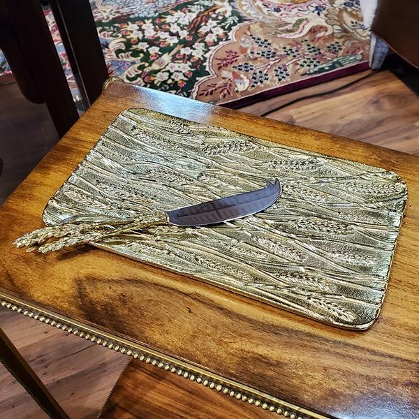 WHEAT BREAD PLATE & KNIFE