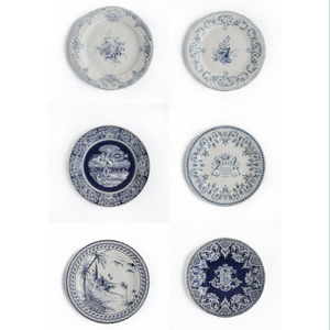 DESSERT PLATES BLUE - SET OF SIX