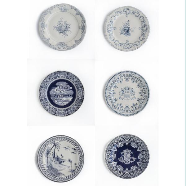 DESSERT PLATES BLUE - SET OF SIX