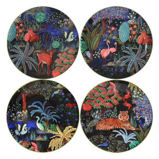 DESSERT PLATES JARDIN - SET OF FOUR