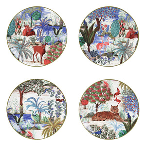 CANAPE PLATES JARDIN - SET OF FOUR
