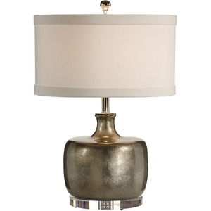 SILVER BOTTLE LOW TABLE LAMP