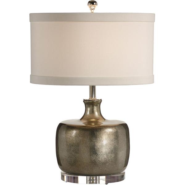 SILVER BOTTLE LOW TABLE LAMP