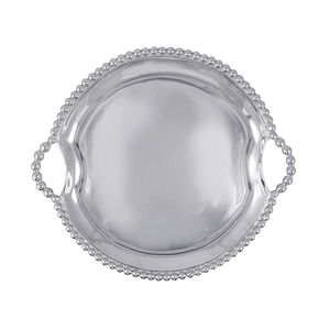 PEARLED HANDLED SERVING BOWL