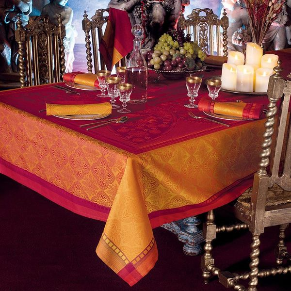 "PALERME ORANGE SANGUINE TABLECLOTH | 69""x120"""