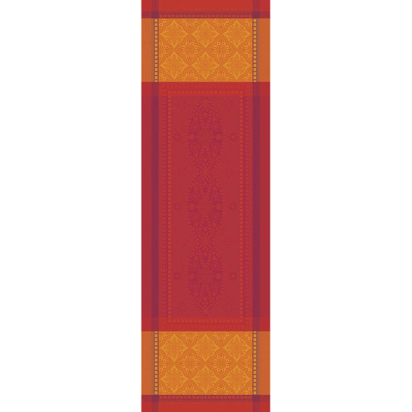 "PALERME ORANGE SANGUINE TABLE RUNNER | 22""x69"""