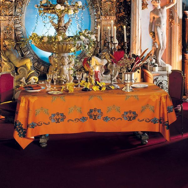 "ARMONIA MANDARINE TABLECLOTH | 61""x61"""
