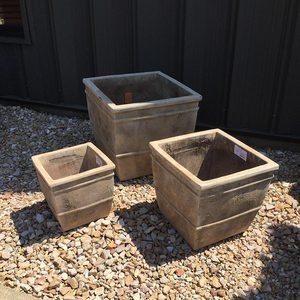ANTICO SQUARE PLANTERS - SET OF 3