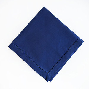 HEMSTITCHED BLUE DINNER NAPKIN