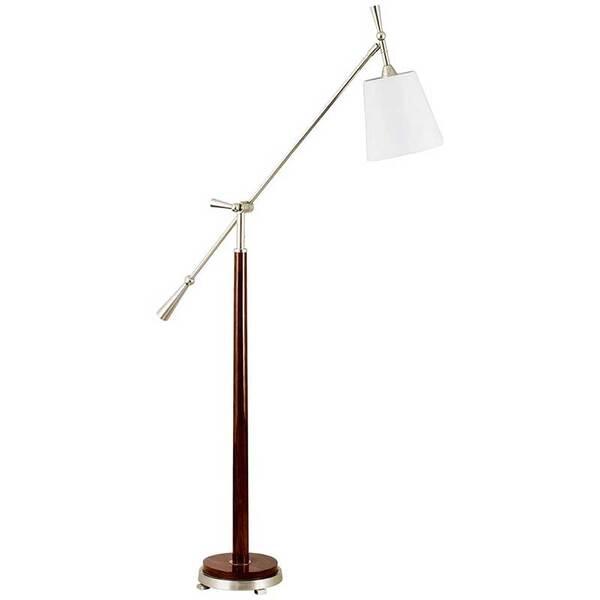 SCRIPTREADER FLOOR LAMP - NICKEL AND BROWN