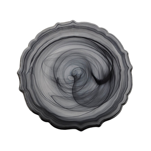 SWIRL GLASS BLACK CHARGER