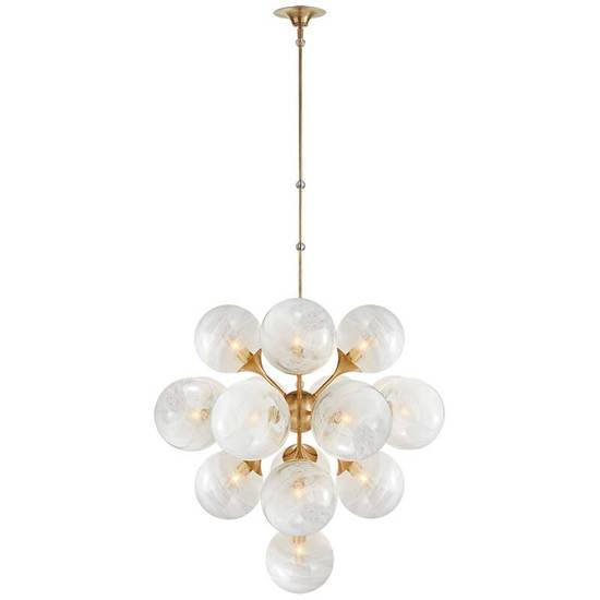 CRISTOL TIERED CHANDELIER