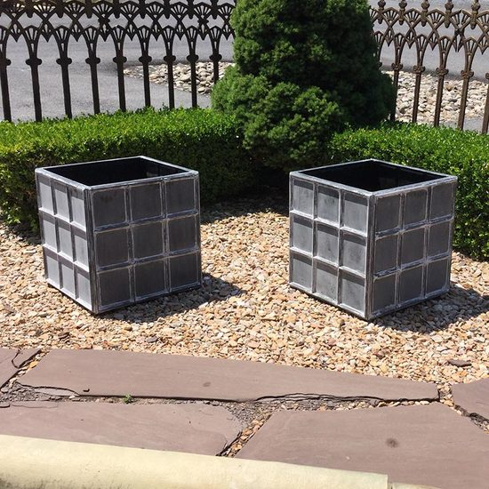 DOWNING STREET PLANTER - ANTIQUE LEAD FINISH