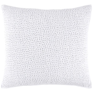 HAND STITCHED PILLOW - LIGHT INDIGO