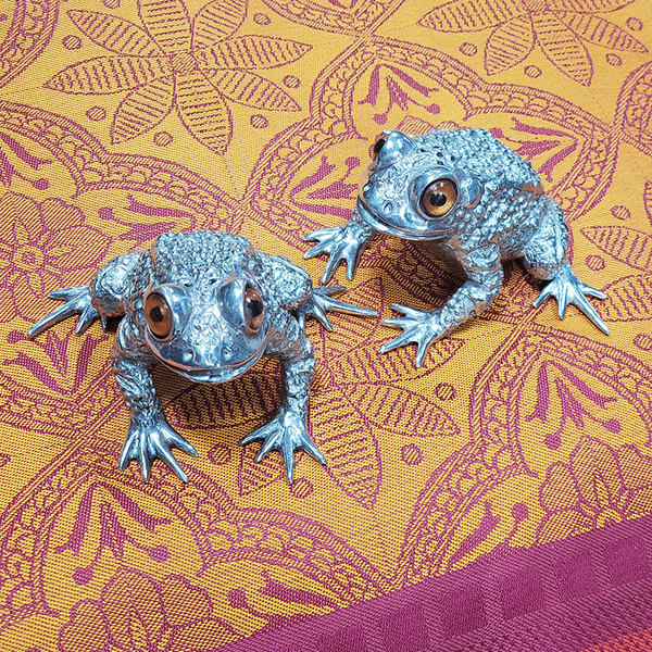 SALT AND PEPPER TOAD SHAKERS