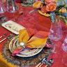 Gold Flare Napkin Ring on Gratitude Table