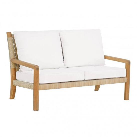 HUDSON SETTEE - NATURAL CORD