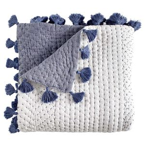 SAHATI INDIGO THROW (50X70)