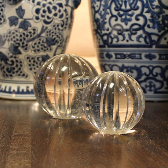 GLASS PAPERWEIGHT - LARGE
