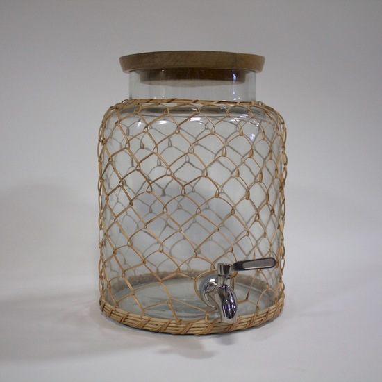 Rattan Beverage Dispenser (small)