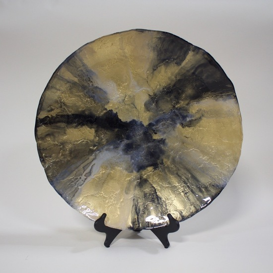 Gold and Black Platter