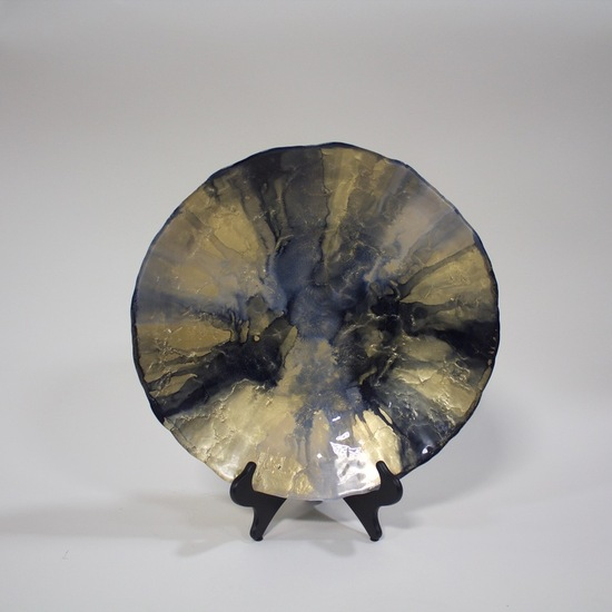 Gold and Black Large Bowl