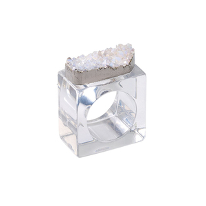 ROCK CRYSTAL NAPKIN RING - SET OF FOUR