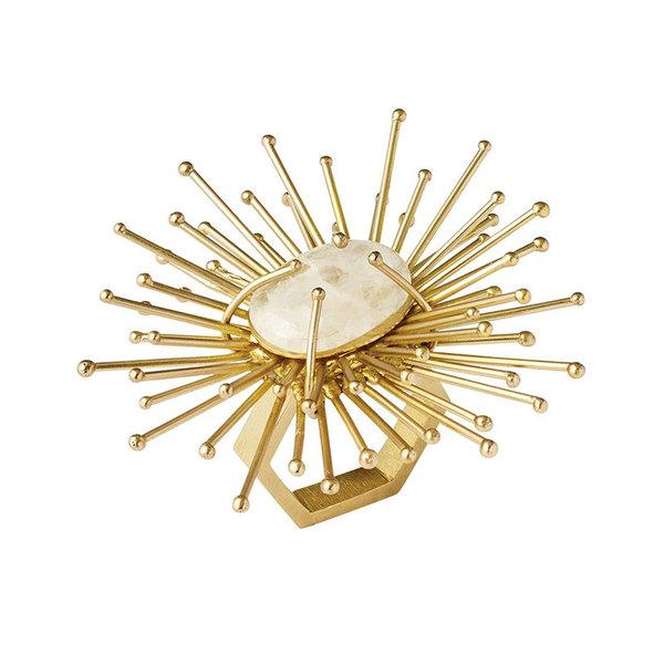 GOLD FLARE NAPKIN RING