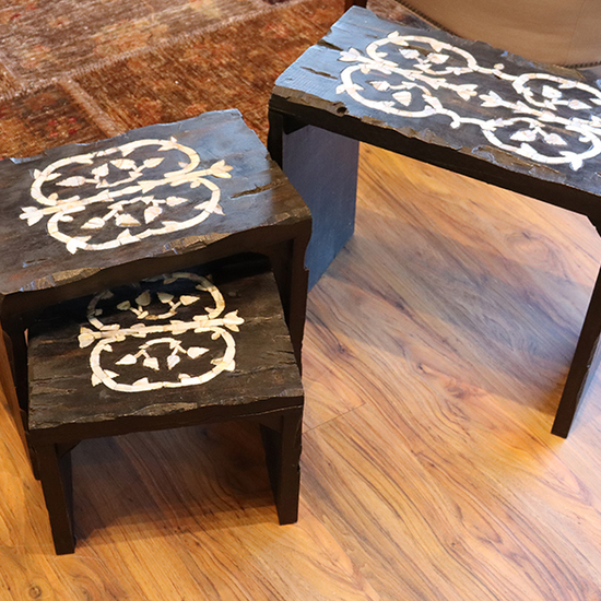 INLAY NESTING TABLES