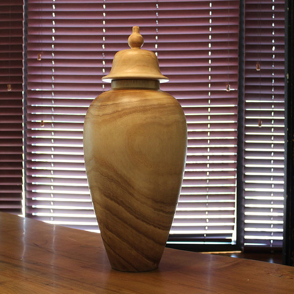 COVERED TEMPLE JAR - LARGE