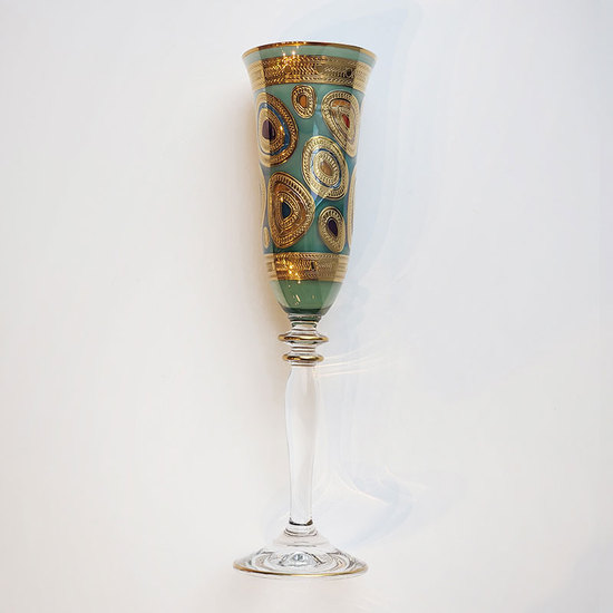 REGALIA AQUA CHAMPAGNE GLASS