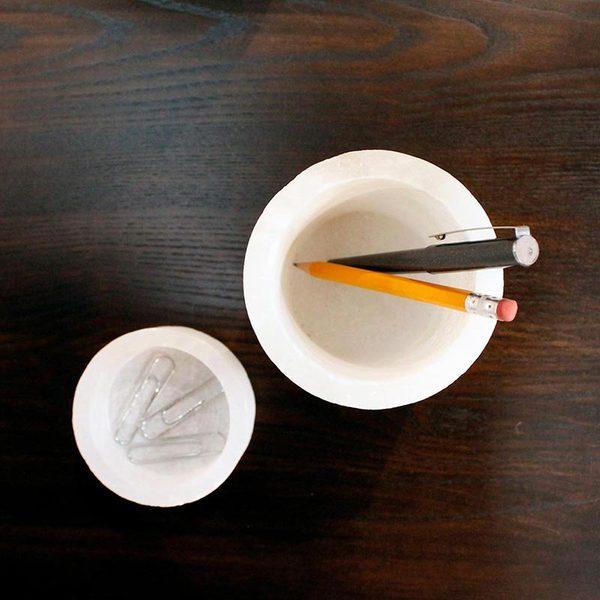 ALABASTER PENCIL CUP
