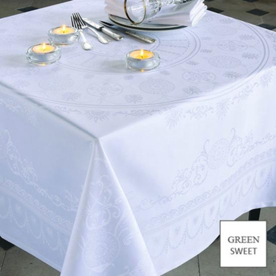 """Eloise Blanc Tablecloth 69""""x100"""""""