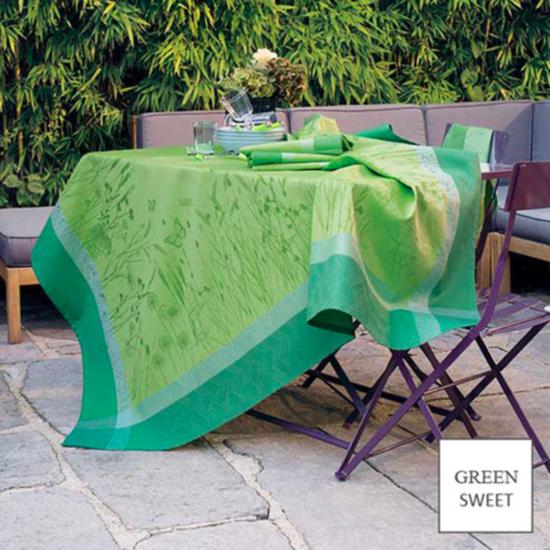 """Champ De Ble Verdure Tablecloth 69""""X69"""""""