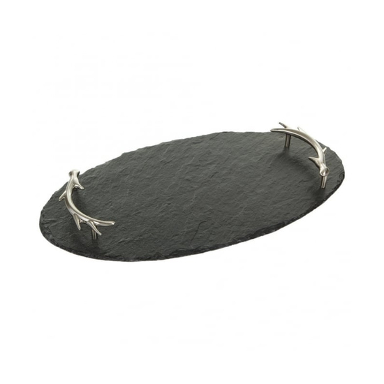 SERVING OVAL ANTLER TRAY