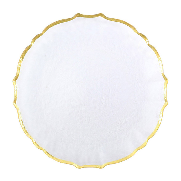 BAROQUE CLEAR GLASS PLATE