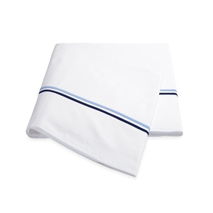 ESSEX QUEEN FLAT SHEET - NAVY