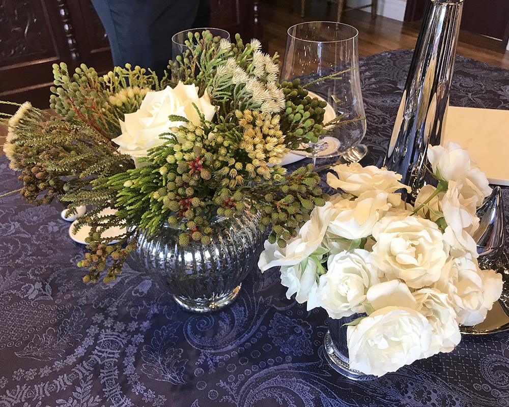 charming roses and greens
