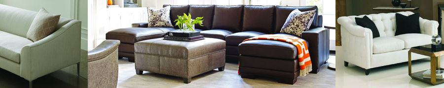 leather and upholstered sofas